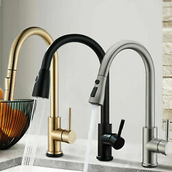 Oil Rubbed Bronze Kitchen Sink Faucet W/pull Out Sprayer Swivel Spout Mixer Tap