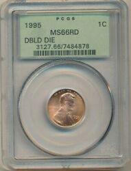1995 Lincoln Memorial Cent-double Die-pcgs Graded Ms66 Rd-ogh-ships Free