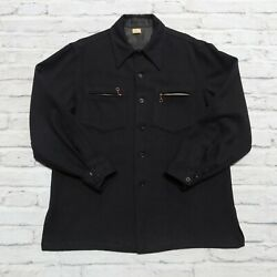 Vintage Early Cpo Wool Navy Shirt Rare Usn Us Navy Wwi Wwii