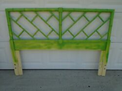 Fretwork Faux Bamboo Queen Size Headboard Henry Link Bali Hai Chinese Chippendal