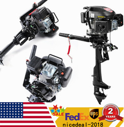 6hp 4 Stroke Electric Outboard Motor Inflatable Boat Engine Air Cooling
