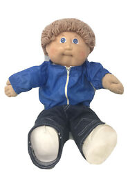 Cabbage Patch Kid Vintage Doll 1978 1982 Baby Boy Xavier Roberts Blue Eyes Nice