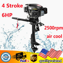 Heavy Duty 6hp 4-stroke Outboard Motor Boat Engine 2500rpm Air Cooling System Us