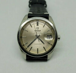 Rare 1967 Omega Seamaster Chronometer Silver Dial Date Cal561 Auto Manand039s Watch