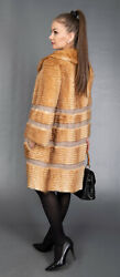 8826 New Super Chic Real Mink Coat Luxury Fur Jacket Beautiful Look Size S