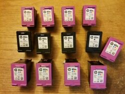 13 Empty Hp 65 Xl 65xl Black And Tri Color Ink Cartridges Used Printer Cartridges