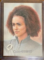 Game Of Thrones Iron Anniversary Character Sketch Missandei - Carlos Cabaleiro