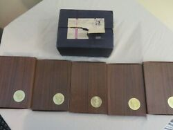 Eisenhower United States 1973-s Proof 40 Silver Dollar In Case And Box 5 Coins