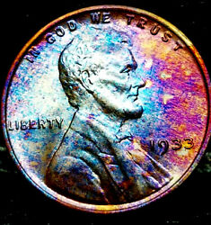 1933 P Lincoln Wheat Penny Cent- Beautiful Toning Superb Gem High Grade 01