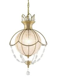 Crystal And Bronze Foyer Dining Room Kitchen Island Chandelier 7 Light 24 X 35