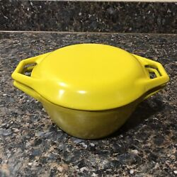 Vintage Copco Denmark Yellow D1 Dutch Oven With Lid