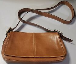 COACH Brown Leather Crossbody? 10quot;x5quot; Purse Amazing $49.99