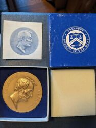 Abraham Lincoln Bronze Medal 3 Inch Us Mint Treasury