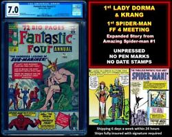 🔥 Fantastic Four Annual 1 Cgc 7.0 Ow White 🔥 1 Shipping W Any Sub-mariner 1