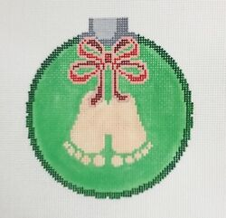 Canvasworks Hand Painted Needlepoint Canvas Christmas Ornament Baby's 1st Xmas