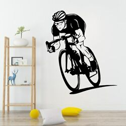 Beauty Bike Wall Sticker Vinyl Removable Decor Living Room Bedroom Wall Decals