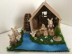 Sylvanian Families 1987 Village Watermill Set Retired Rare Calico Critters Epoch