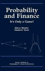 Probability And Finance It's Only A Game By Glenn Shafer Used