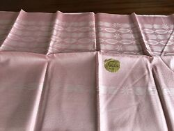 Vintage Unused Pink Rayon Tablecloth With Label 52x52 Inches