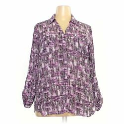 Relativity Women's Blouse Size 2x, Purple, Polyester, Good Condition