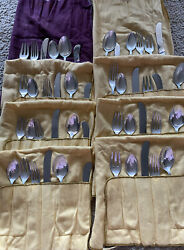 Contour By Towle Mid-century Modern Sterling Flatware Set For 8- Great Set