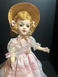 Signed 14 Mary Hoyer Hard-plastic Doll Tagged Formal Gown One Of A Kind