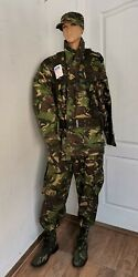 Romanian Signal Military Uniform Woodland Suit Camouflage Tactical Boots Harness