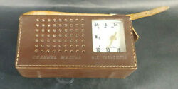 Vintage Channel Master 6506 6 Transistor Radio And Leather Case Sanyo  Mabk