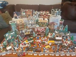 Dept. 56 Snow Village Lot Of 16 Houses And 100 Acessories