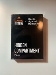 Cards Against Humanity Exploding Kittens Hidden Compartment Pack - New