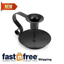 Printemps Candlestick Holders Black Candle HolderWrought Iron Taper Candle H...