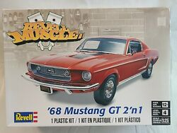 Revell Muscle And03968 Mustang Gt 2and039nand0391 Plastic Model Kit 125 Scale - Sealed Parts