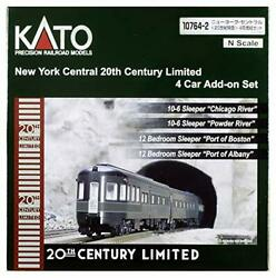 Kato N Gauge New York Central 20th Century Limited Express 10764-2 Model Tra