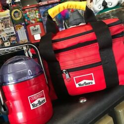 Marlboro Insulated Zipper Cooler Bag And Tilted Lantern Combo Pack
