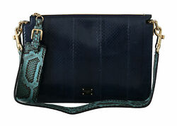 Dolce And Gabbana Bag Womenand039s Blue Snakeskin Book Shoulder Hand Purse Leather