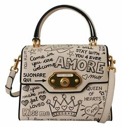 Dolce And Gabbana Bag Womenand039s Beige Leather Dg Crown Crossbody Welcome Purse