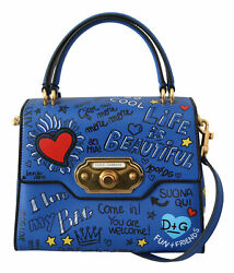 Dolce And Gabbana Bag Womenand039s Blue Leather Dg Heart Crossbody Welcome Purse