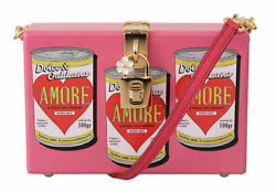 Dolce And Gabbana Bag Womenand039s Pink Clutch Box Shoulder Hand Purse Wooden Amore