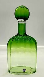 Signed Cenedese Vetri Blown Art Glass Decanter With All Origional Labels Murano