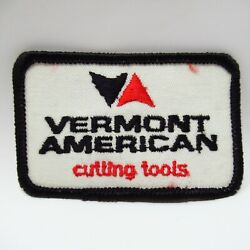 Vintage Patch - Vermont American - Cutting Tools - Embroidered Triangles Logo