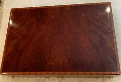 Hermes Lacquered Burr Wood Stationery Case