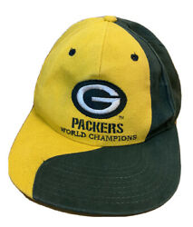 Vintage Green Bay Packers World Champions Nfl Cap Snapback Hat Citgo Cheese Head