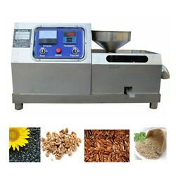 110v Commercial Electric Screw Oil Press Machine Automatic Walnut Oil Expeller