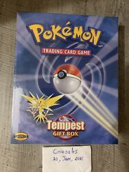 Pokemon Tempest Gift Box - Base Set Jungle And Fossil Packs + Zapdos Holo - Qty