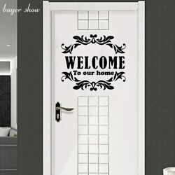 Art Sticker Welcome To Our Home Removable Wall Stickers For Kids Room Home Decor