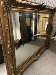 French Antique Louis Xv Gold Floor Size Mirror 51h X 60w