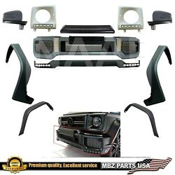 Brabus Style G63 G65 Amg Bumper + Lower Lip Upper Led Covers Mirrors Flares 4