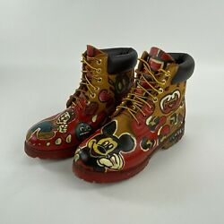 Boots 10661 Custom Hand Painted Marios World Mickey Mouse Size 7m