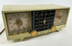 Zenith 7519p Vintage Antique 1950 Mcm Mid Modern Space Age Tube Radio For Parts