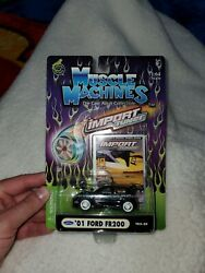 Muscle Machines Import Tuner Series Black '01 Ford Fr200 T02-20